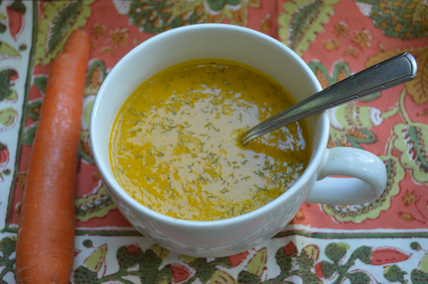 Cream of Carrot Soup with Dill (Paleo, Vegan Option) • Mind Body ...