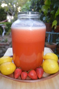 Fermented Lemonade with Strawberry